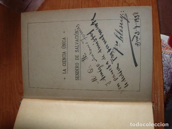 Libros antiguos: LA CIENCIA UNICA / SENDERO DE SALVACION / JYOTIS PRACHAM - Foto 2 - 130592046