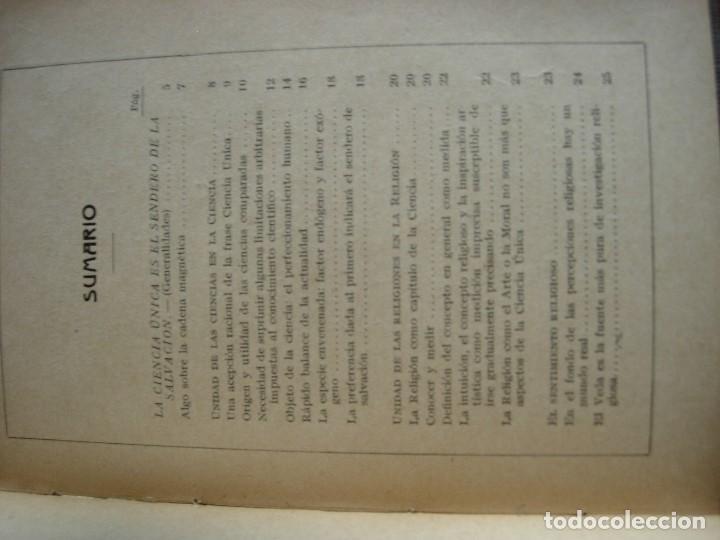 Libros antiguos: LA CIENCIA UNICA / SENDERO DE SALVACION / JYOTIS PRACHAM - Foto 4 - 130592046