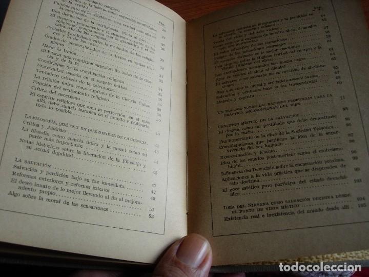 Libros antiguos: LA CIENCIA UNICA / SENDERO DE SALVACION / JYOTIS PRACHAM - Foto 5 - 130592046
