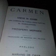 Libros antiguos: CARMEN CARTAS DE ESPAÑA EL SOL. Lote 130615954