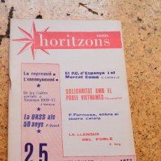 Libros antiguos: NOUS HORITZONS Nª25. Lote 130642682