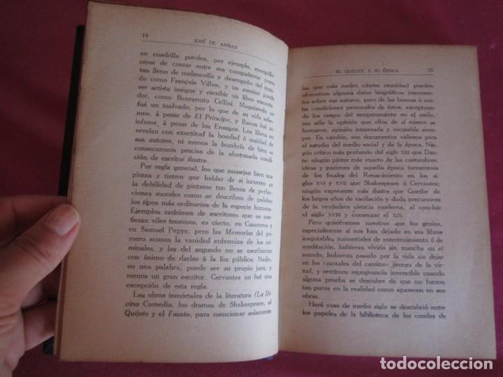 Libros antiguos: EL QUIJOTE Y SU ÉPOCA. JOSÉ DE ARMAS. RENACIMIENTO 1915 FIRMADO AUTOR - Foto 5 - 130836260