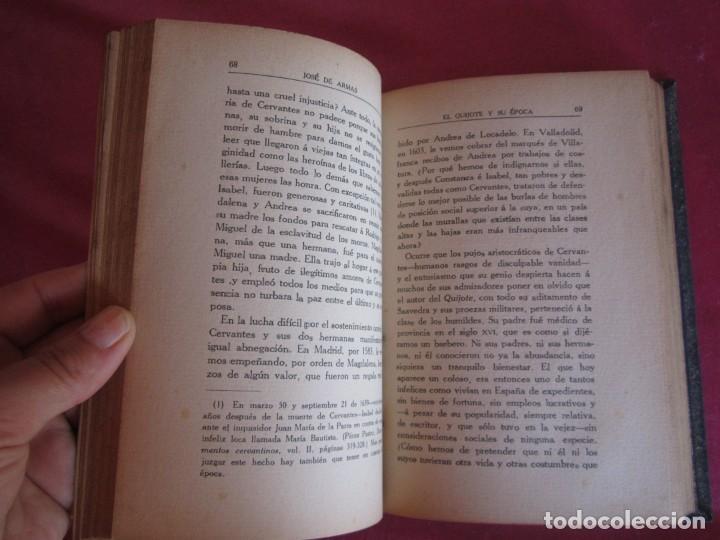 Libros antiguos: EL QUIJOTE Y SU ÉPOCA. JOSÉ DE ARMAS. RENACIMIENTO 1915 FIRMADO AUTOR - Foto 6 - 130836260