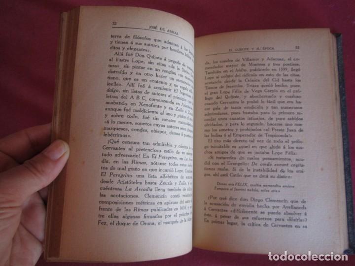Libros antiguos: EL QUIJOTE Y SU ÉPOCA. JOSÉ DE ARMAS. RENACIMIENTO 1915 FIRMADO AUTOR - Foto 7 - 130836260