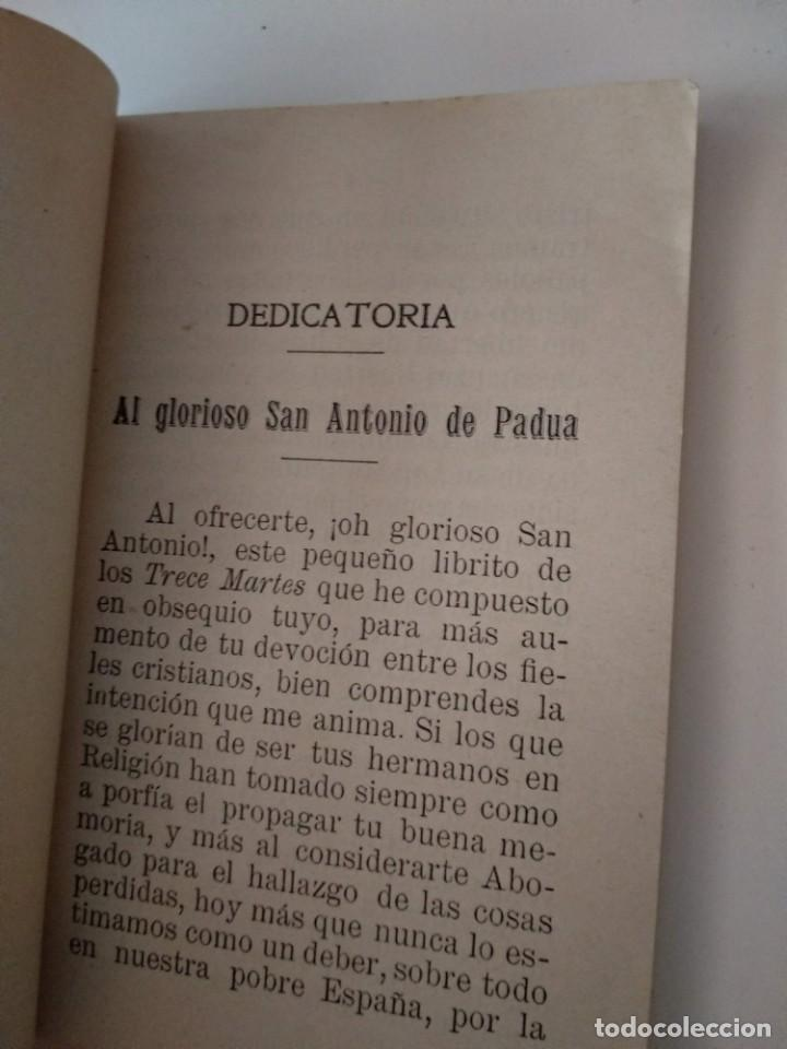 LOS TRECE MARTES DE SAN ANTONIO DE PADUA POR FRANCISCO DOMINGO PAYA 1914 SEGUNDA EDICION (Libros Antiguos, Raros y Curiosos - Otros Idiomas)