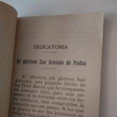 Libros antiguos: LOS TRECE MARTES DE SAN ANTONIO DE PADUA POR FRANCISCO DOMINGO PAYA 1914 SEGUNDA EDICION. Lote 130958756