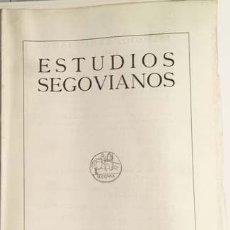 Libros antiguos: NÚMERO DEDICADO A VILLACASTIN. (ESTUDIOS SEGOVIANOS Nº 70. Lote 130980856