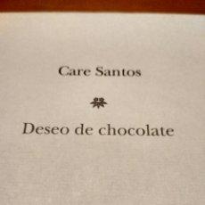 Libros antiguos: DESEO DE CHOCOLATE . Lote 131007064