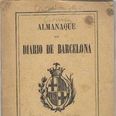 Libros antiguos: ALMANAQUE DIARIO DE BARCELONA AÑO 1907 - VER FOTOS - MUCHA PUBLICIDAD EPOCA. Lote 131154504