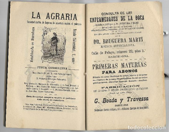 Libros antiguos: ALMANAQUE DIARIO DE BARCELONA AÑO 1907 - VER FOTOS - MUCHA PUBLICIDAD EPOCA - Foto 5 - 131154504