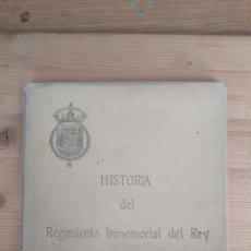 Livres anciens: HISTORIA DEL REGIMIENTO INMEMORIAL DEL REY. Lote 131269855