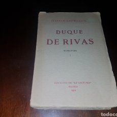 Libros antiguos: DUQUE DE RIVAS 1912. Lote 131414394