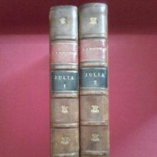 Libros antiguos: JULIA O LA NUEVA ELOÍSA. CARTAS DE DOS AMANTES POR J. J. ROUSSEAU. PARIS, GARNIER HNOS.. Lote 131415050