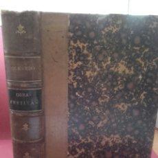 Libros antiguos: OBRAS FESTIVAS DE D.F. DE QUEVEDO Y VILLEGAS,CON UNA NOTICIA DE SU VIDA. Lote 131418362