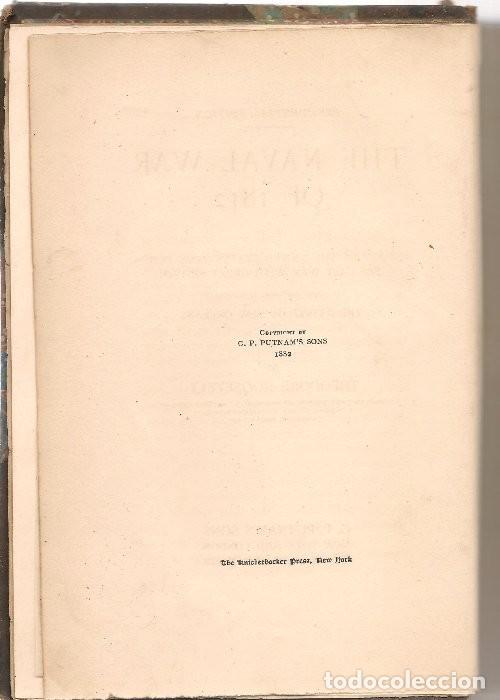 Libros antiguos: ROOSEVELT,Theodore ,THE NAVAL WAR OF 1812 , history of the United States Navy During ... ... - Foto 2 - 131512222