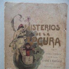 Libros antiguos: MISTERIOS DE LA LOCURA J.GINE Y PARTAGAS AÑO 1890 1ª EDICION. Lote 131557338