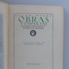 Libros antiguos: OSCAR WILDE // EL PRINCIPE FELIZ Y LA CASA DE LAS GRANADAS // TRADUCE RICARDO BAEZA // PUBL. ATENEA. Lote 131603742
