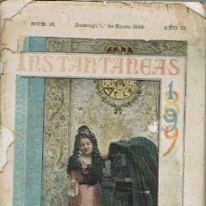 Libros antiguos: INSTANTÁNEAS NÚMERO ALMANAQUE 13 AÑO II. AÑO 1899. (12.6). Lote 131627478