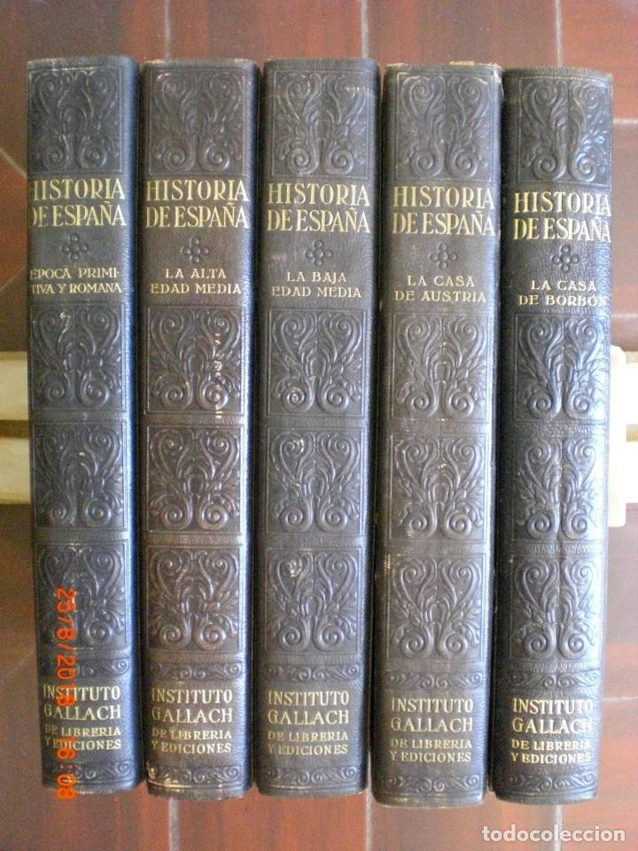 GRAN HISTORIA GENERAL DE LOS PUEBLOS HISPANOS. GALLACH. 5 TOMOS. AÑO 1934-1943. (AC1.3) (Libros Antiguos, Raros y Curiosos - Historia - Otros)