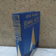 Libros antiguos: SUMMA ARTIS EL ARTE GRIEGO TOMO IV. Lote 131663378
