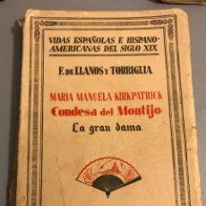 Libros antiguos: CONDESA DEL MONTIJO. Lote 131959274