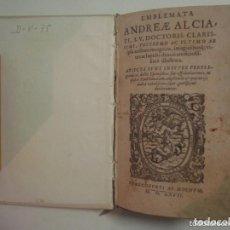 Libri antichi: MAGNÍFICA EDICIÓN RENACENTISTA EMBLEMATA ANDREAE ALCIATI.1567. 195 GRABADOS. Lote 132205010