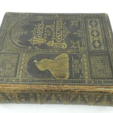 Libros antiguos: THE GENUINE WORKS OF FLAVIUS JOSEPHUS, THE JEWISH HISTORIAN BY WILLIAM WHISTON A.M, JUDAICA, THE COM. Lote 132276162