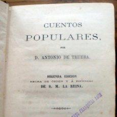 Libros antiguos: CUENTOS POPULARES. - DE TRUEBA, D. ANTONIO. - MADRID, 1862.. Lote 123180600