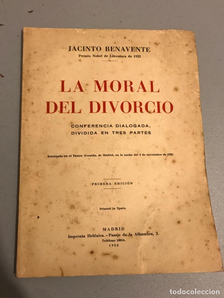 LA MORAL DEL DIVORCIO 1932 CONFERENCIA DIALOGADA (Libros Antiguos, Raros y Curiosos - Pensamiento - Otros)