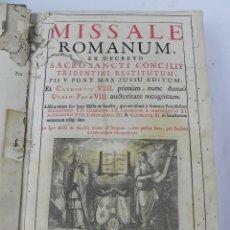 Libros antiguos: MISSALE ROMANUM, EX DECRETO SACROSANCTI CONCILIJ TRIDENTINI RESTITUTUM, B. PII V. PONTIFICIS MAX. IV. Lote 132351630