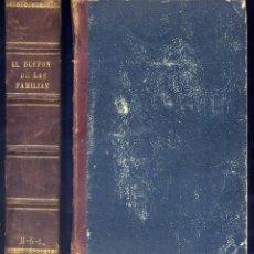 Libros antiguos: DUBOIS. LE BUFFON DES FAMILLES. HISTOIRE ET DESCRIPTION DES ANIMAUX... PARIS, (HACIA 1882). ILUSTR.. Lote 132374366