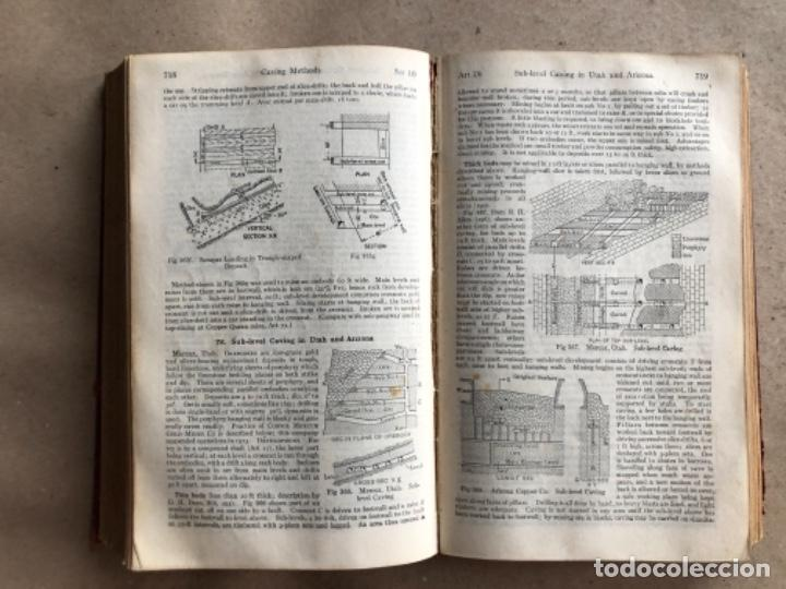 Libros antiguos: MINING ENGINEERS HANDBOOK. ROBERT PEELE. VOL. 1. 1927. LIBRO INGENIERO DE MINAS. - Foto 10 - 132486110
