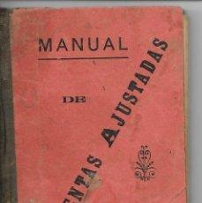 Libros antiguos: MANRESA - LIBRO CUENTAS AJUSTADAS - R. FORCAT BOIXADERA - 1915 - SO0CIEDAD ED. MANRESANA. Lote 132488982