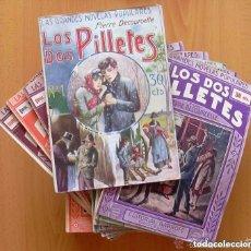 Libros antiguos: LOS DOS PILLETES - COLECCIÓN COMPLETA, 52 CUADERNOS - EDITORIAL GARROFE 1927, VER FOTOS ADICIONALES. Lote 132493162