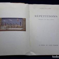 Libros antiguos: PAUL ELUARD. RÉPÉTITIONS. DESSINS DE MAX ERNST. 1922. Lote 132550742