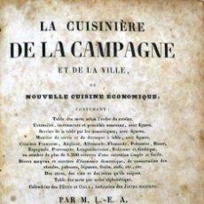 Libros antiguos: LA CUISINIÈRE DE LA CAMPAGNE ET DE LA VILLE, OU NOUVELLE CUISINE ÉCONOMIQUE; CONTENANT: TABLE DES ME. Lote 123211103