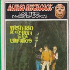 Livres anciens: LOS TRES INVESTIGADORES. MISTERIO DE LA CUEVA DE LOS LAMENTOS. ALFRED HITCHCOCK. Lote 132602106
