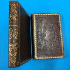 Libros antiguos: EL NUEVO ANQUETIL. HISTORIA UNIVERSAL HASTA 1848 - 2 TOMOS EN PIEL GOFRADA - M. ORTIZ DE LA VEGA. Lote 132679117