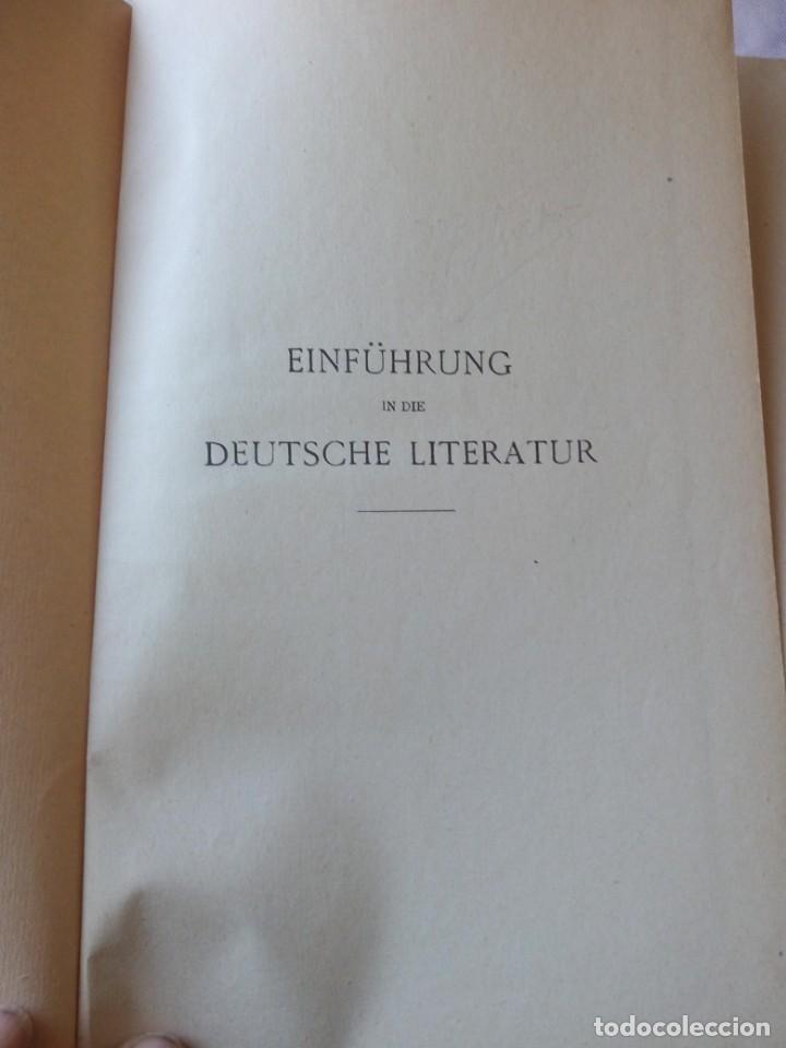 Libros antiguos: einführung in die deutsche literatur schenker & hassler payot & cie 1917 - Foto 2 - 132694290