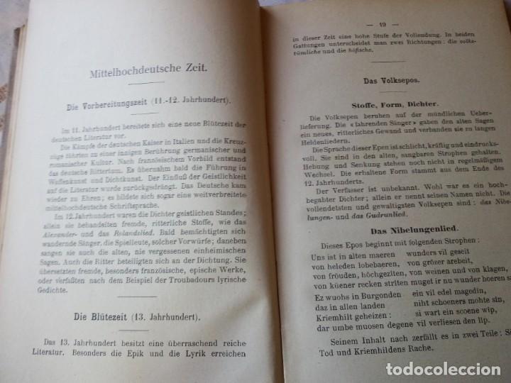 Libros antiguos: einführung in die deutsche literatur schenker & hassler payot & cie 1917 - Foto 4 - 132694290