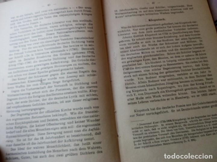 Libros antiguos: einführung in die deutsche literatur schenker & hassler payot & cie 1917 - Foto 5 - 132694290