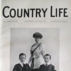 Libros antiguos: COUNTRY LIFE DEL AÑO 1910. DOS TOMOS REVISTA ANTIGUA (ARQUITECTURA, VIAJES, MODA, ANUNCIOS...). Lote 132716150
