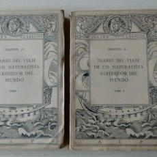Libros antiguos: DIARIO DEL VIAJE DE UN NATURALÍSTA ALREDEDOR DEL MUNDO. Lote 132444874