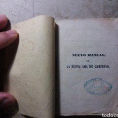 Libros antiguos: LA BUENA AMA DE GOBIERNO 1852.. Lote 132739970