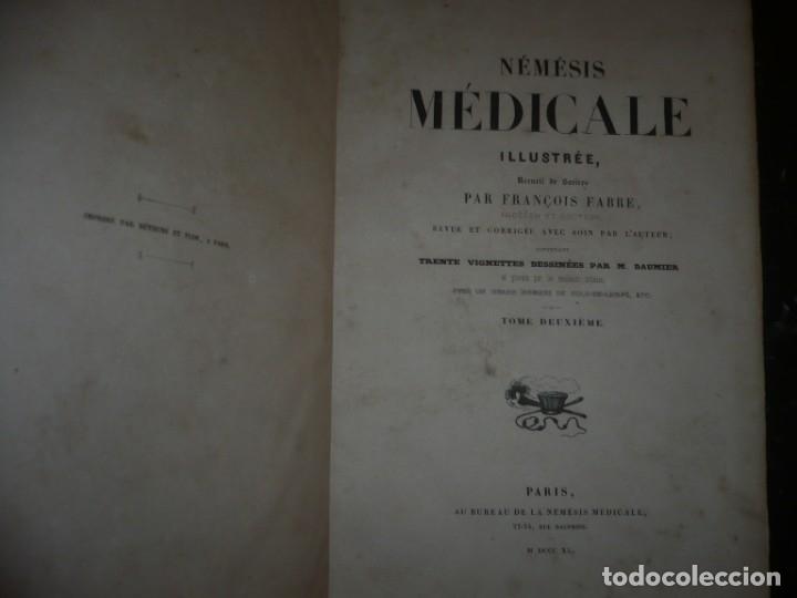 Libros antiguos: NEMESIS MEDICALE ILLUSTREE FRANCOIS FABRE 1840 PARIS TOME DEUXIEME - Foto 2 - 132773298
