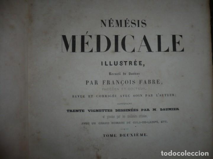Libros antiguos: NEMESIS MEDICALE ILLUSTREE FRANCOIS FABRE 1840 PARIS TOME DEUXIEME - Foto 3 - 132773298