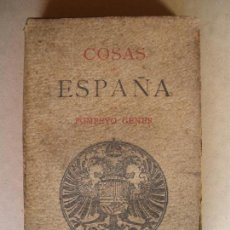Libros antiguos: COSAS DE ESPAÑA. POMPEYO GENER. 1903. Lote 132915186