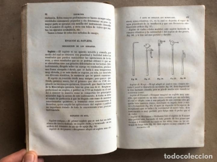 Libros antiguos: DOCIMASIA O EL ARTE DE ENSAYAR LOS MINERALES. JOSÉ MARÍA SOLER. MADRID,1873. - Foto 5 - 132931402