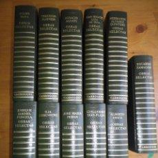 Libros antiguos: OBRAS SELECTAS COLECCIÓN CONTEMPORÁNEOS EDITORIAL CARROGGIO 11 LIBROS . Lote 132976318