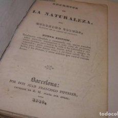 Alte Bücher - LIBRO TAPAS PERGAMINO..SECRETOS DE LA NATURALEZA..AÑO.1840..420 PAGINAS...(HAY MUCHAS FOTOS). - 132982270